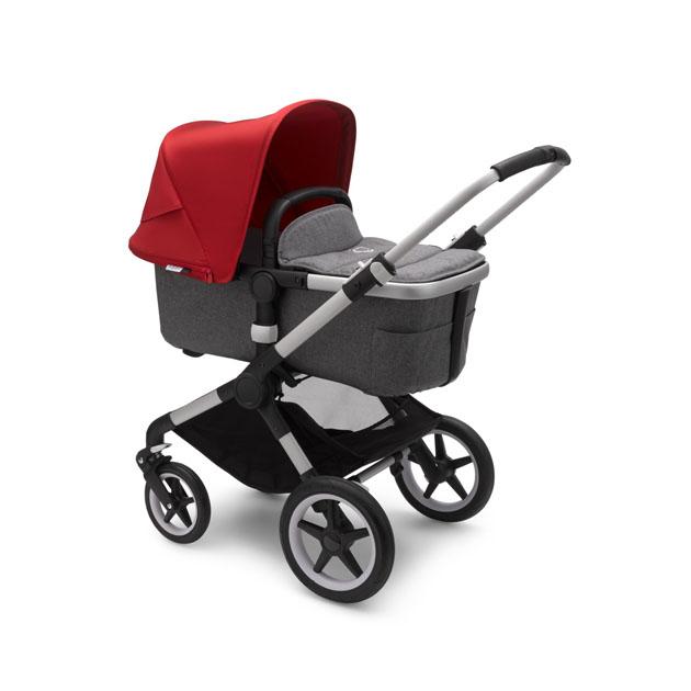 Hello赤ちゃんはbugaboo正規販売店です ベビーカー bugaboo Fox2 base ALU style set GREY RED フレーム canopy シルバー×スタイルセット 安値 レッド MELANGE グレーメランジ×サンキャノピー タイムセール sun