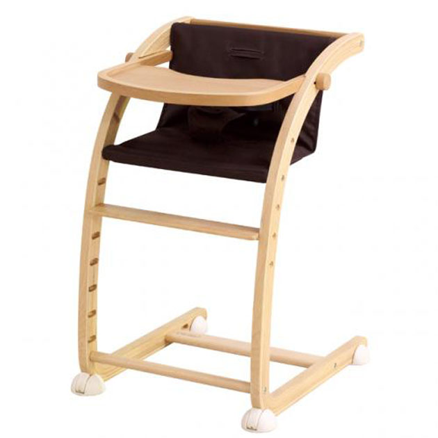 【あす楽対応】ベビーチェア farska(ファルスカ) Scroll Chair Plus(スクロールチェアプラス) ブラウン