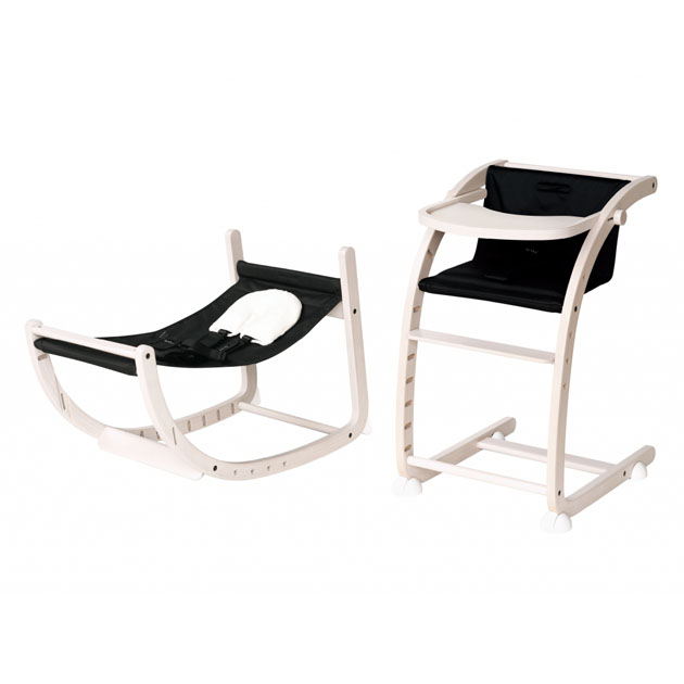 ベビーチェア farska 期間限定で特別価格 クリアランスsale 期間限定 Scroll Chair ホワイトウォッシュ×ナイトブラック スクロールチェアプラス Plus ファルスカ