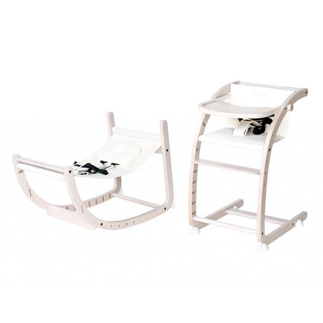ベビーチェア farska Scroll Chair 人気商品 安全 ホワイトウォッシュ×オフホワイト Plus スクロールチェアプラス ファルスカ
