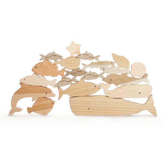 知育玩具 オークヴィレッジ(Oak Village) 海のいきものつみき