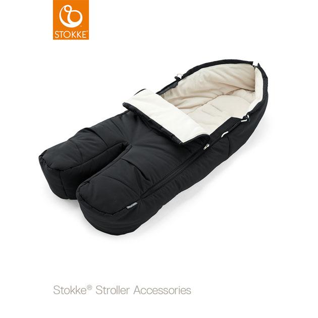 ベビーカーオプション Stokke FootMaf(ストッケ フットマフ) ブラック