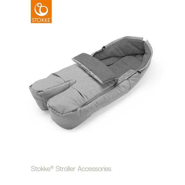 ベビーカーオプション Stokke FootMaf(ストッケ フットマフ) グレーメラーンジ