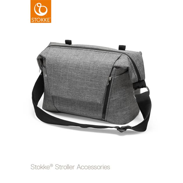 ベビーカーオプション Stokke Changing Bag(ストッケ チェンジングバッグ) ブラックメラーンジ