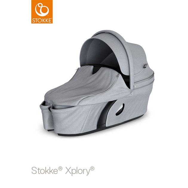 ベビーカー Stokke Xplory V6(ストッケ エクスプローリー) キャリーコット グレーメラーンジ