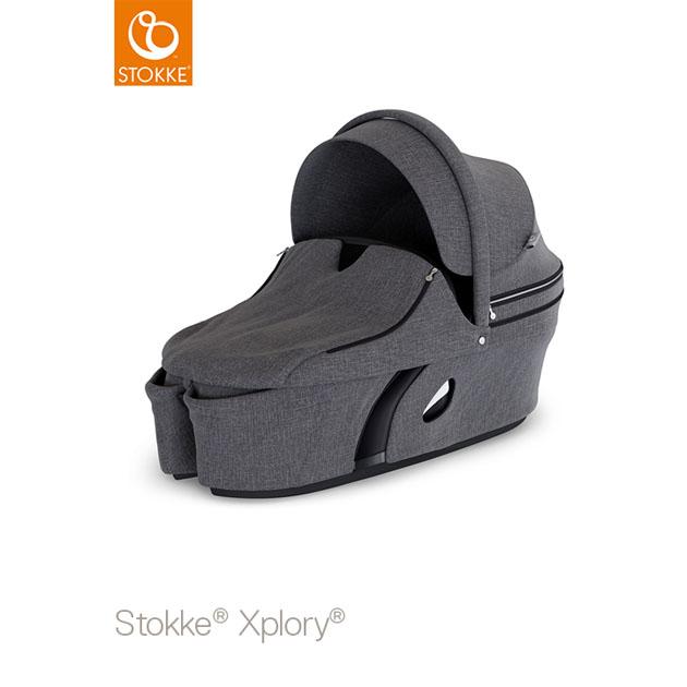 ベビーカー Stokke Xplory V6(ストッケ エクスプローリー) キャリーコット ブラックメラーンジ