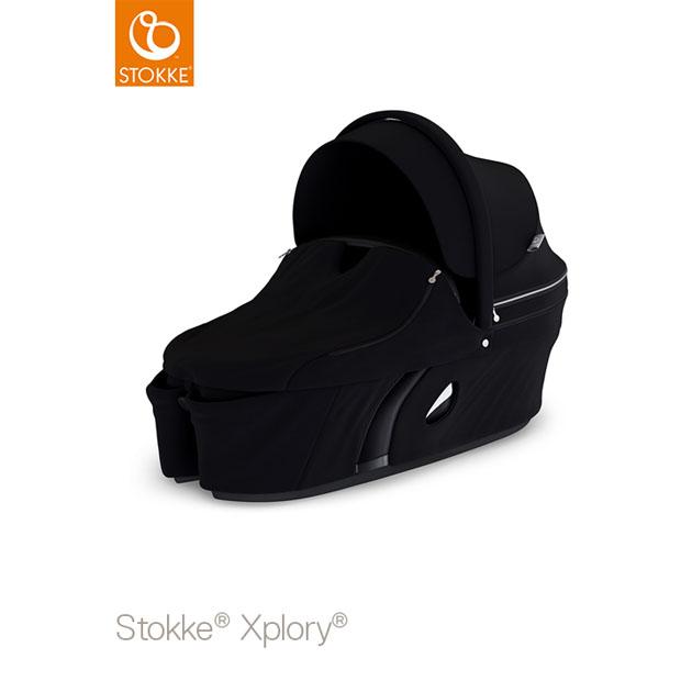 ベビーカー Stokke Xplory V6(ストッケ エクスプローリー) キャリーコット ブラック
