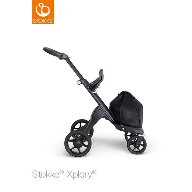 ベビーカー Stokke Xplory V6(ストッケ エクスプローリー) ブラックシャーシ ブラウンハンドル