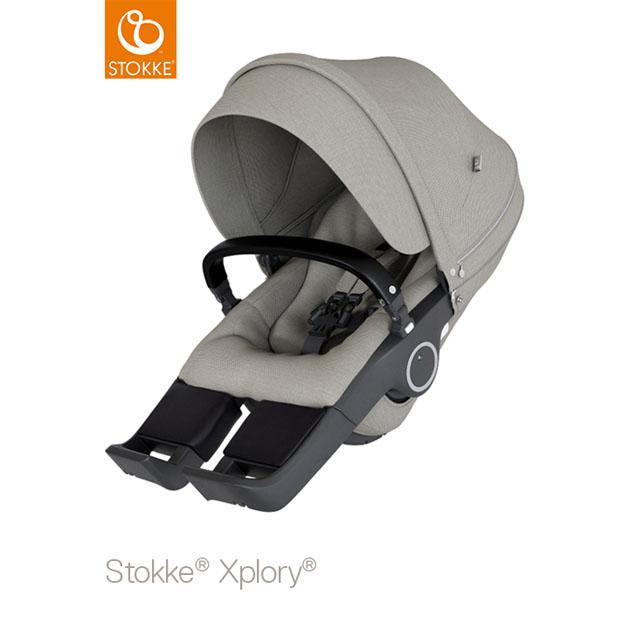 ベビーカー Stokke Xplory V6(ストッケ エクスプローリー) ブラッシュシート グレー