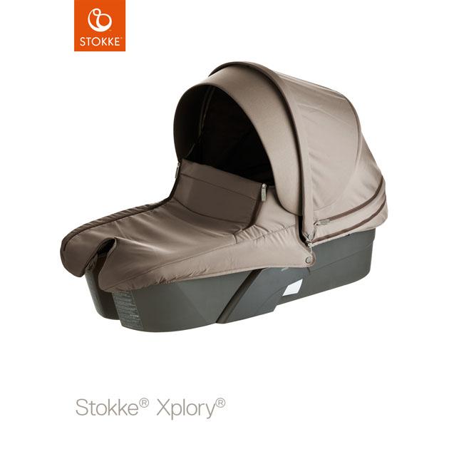 ベビーカー Stokke Xplory Carry Cot Black(ストッケ エクスプローリー キャリーコット) ブラウン