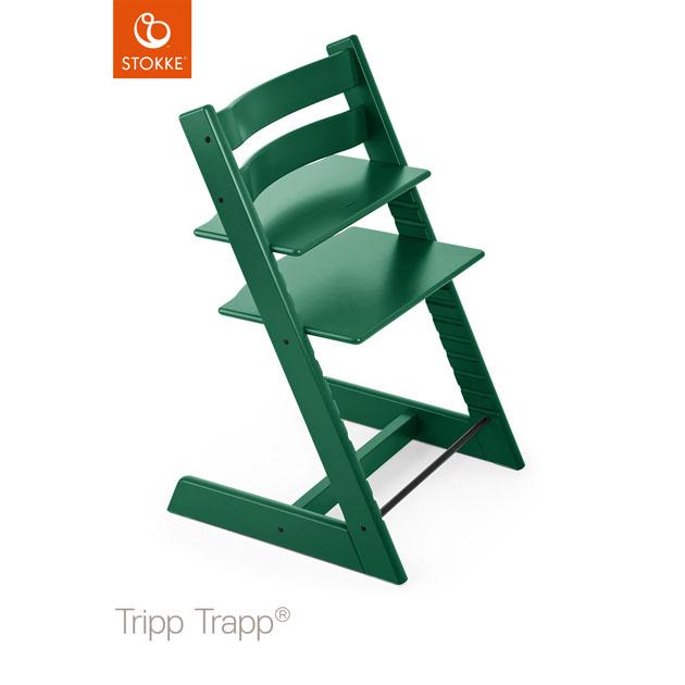ベビーチェア Stokke Tripp Trapp(ストッケ トリップ トラップ) チェア本体 フォレストグリーン