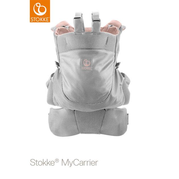 【あす楽対応】ベビーキャリア Stokke MyCarrier(ストッケ マイキャリア フロント&バック) ピンクメッシュ