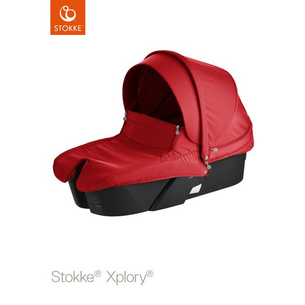 ベビーカー Stokke Xplory Black Carry Cot Black(ストッケ エクスプローリー ブラック キャリーコットブラック) レッド