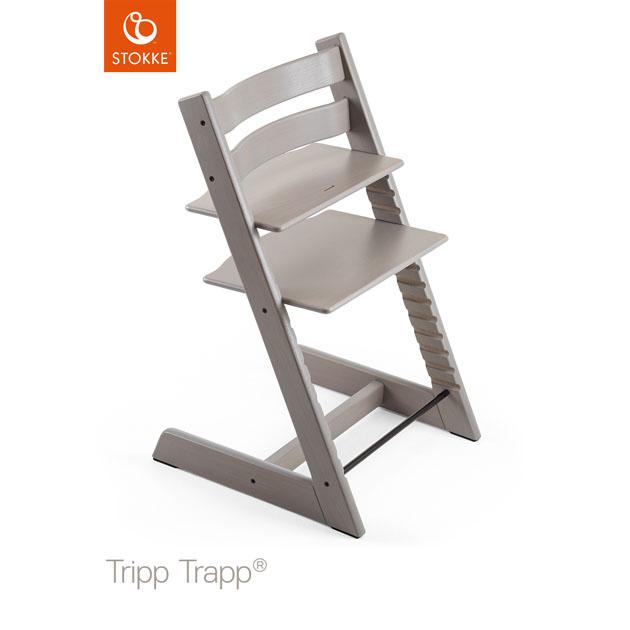 【あす楽対応】ベビーチェア Stokke Tripp Trapp Oak(ストッケ トリップ トラップ オーク) チェア本体 グレーウォッシュ