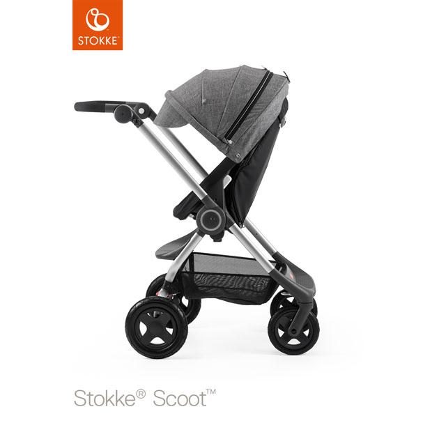 ベビーカー Stokke Scoot(ストッケ スクート2) ブラックキット+キャノピー ブラックメラーンジ