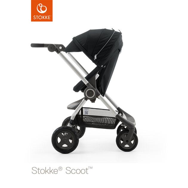 ベビーカー Stokke Scoot(ストッケ スクート2) ブラックキット+キャノピー ブラック