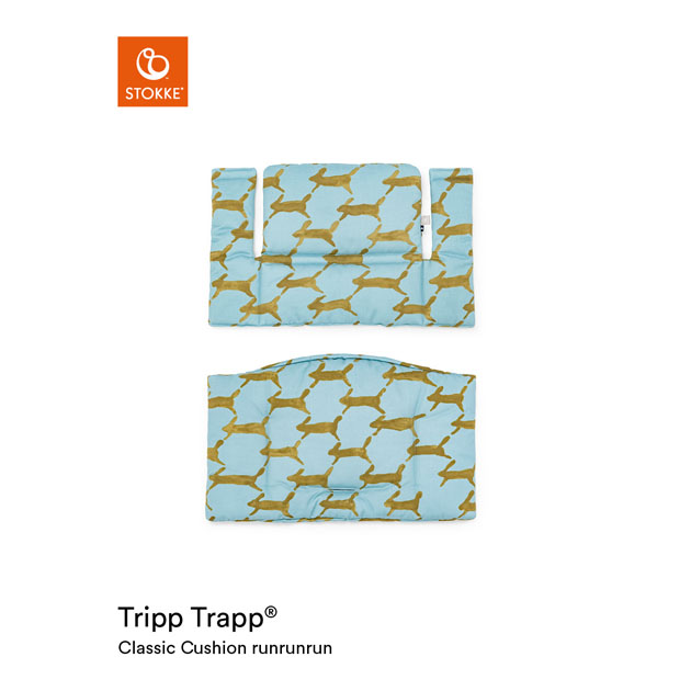 【あす楽対応】ベビーチェアオプション Stokke Tripp Trapp Classic Cushion [mina perhonen Collection](ストッケ トリップ トラップ クラシック クッション ミナ ペルホネン コレクション) ランランラン