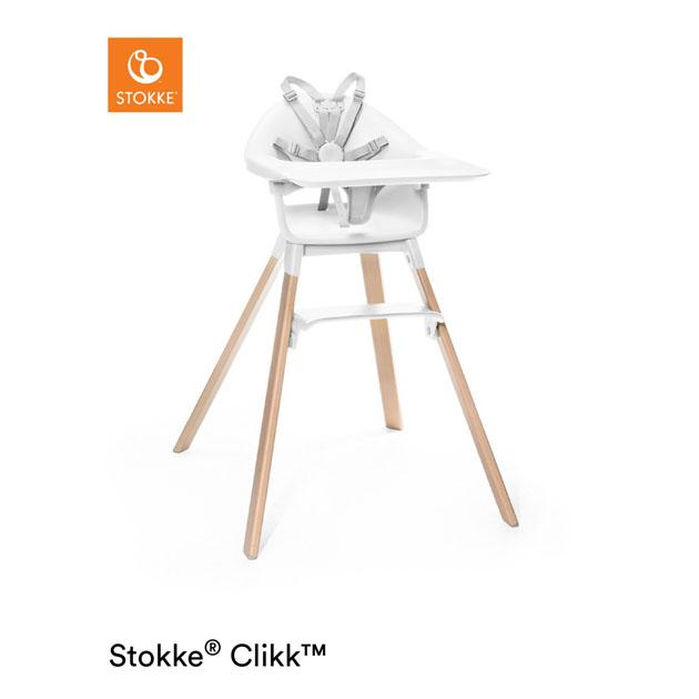 【あす楽対応】ベビーチェア Stokke Clikk Heigh Chair(ストッケ クリック ハイチェア) ホワイト