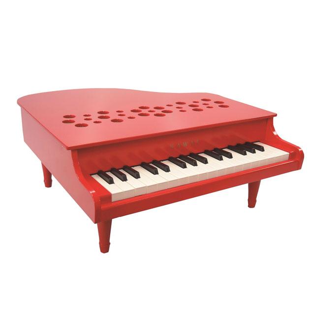 知育玩具 カワイ(KAWAI) ミニピアノ P-32 レッド