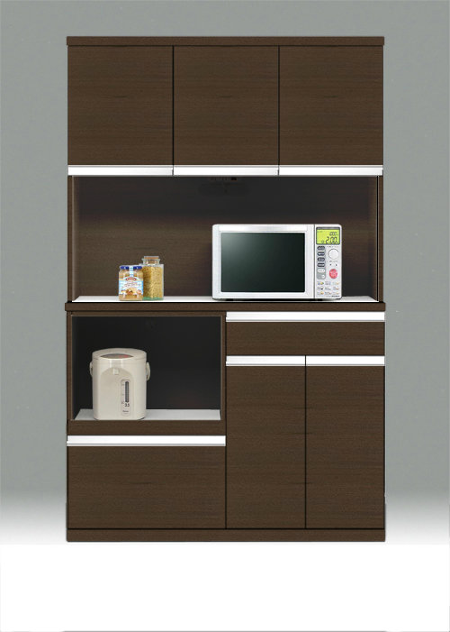 キッチンボード 120 日本製 ワイドタイプ 食器棚 ★ポイント120キッチンボード(ブラウン)新生活【02P03Dec16】