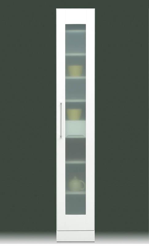 キッチン収納 食器棚 幅30 ハイタイプ 鏡面 キッチン収納 食器棚 ダイニングボード たな 棚 すき間 家具 ガラス扉 幅30cm シンプル 白 しろ ホワイト 引出 収納 スリムキッチンラック ダイニング収納 ★クリスタル30スリム収納庫【02P03Dec16】