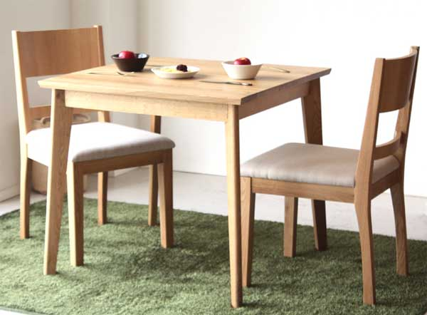 Beautiful Dining Set Three Points [wood] [domestically Produced Finished Products:  Kitchen Dining 3 OCTA (OCTA) Dining Set Table 2 Chairs Set ☆ Dining 3 Oct  [YDKG] ...