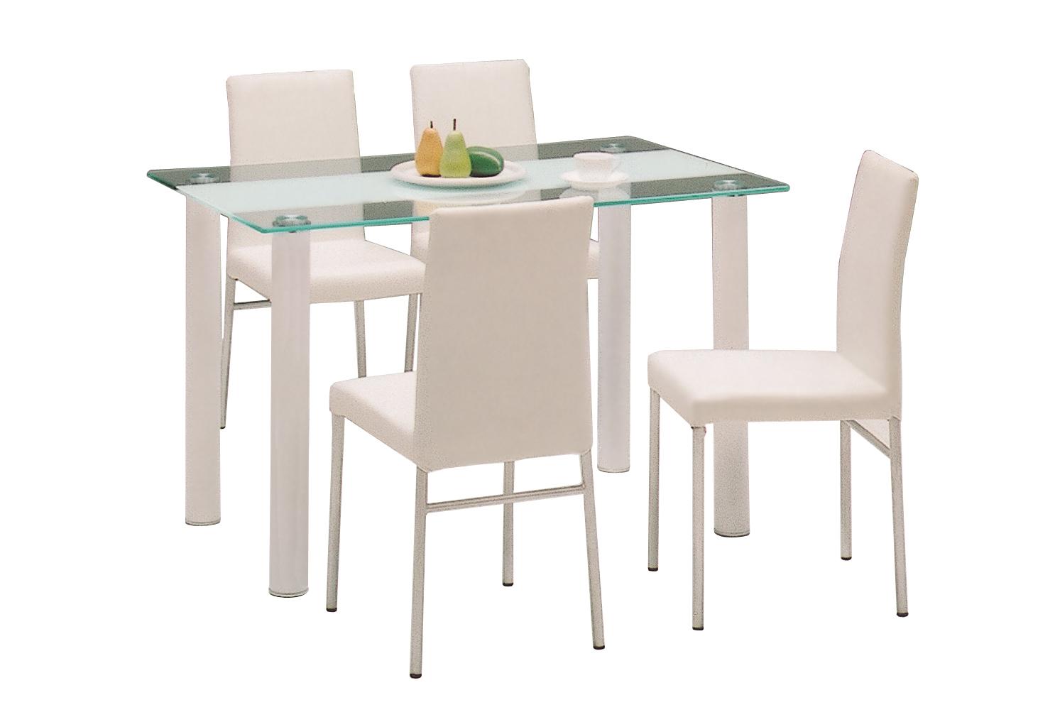 【ダイニングセット5点】【テーブル】【チェアー】ヴォーグ5点セット(ホワイト/ブラック)【02P03Dec16】