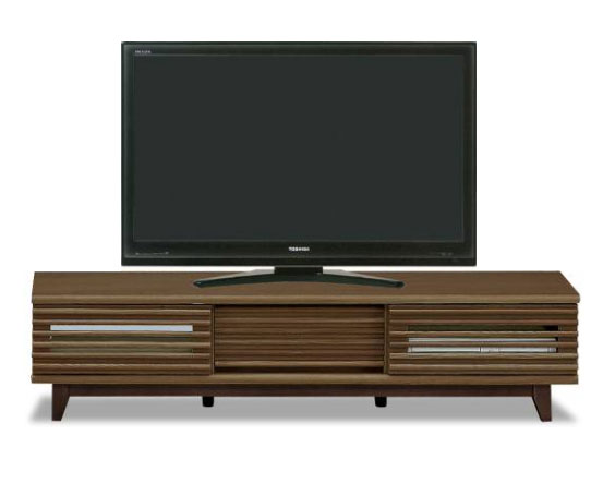 人気の格子デザイン 引き戸タイプ タモ突き板の高級感あふれるテレビボード 完成品 ロータイプ AVボード ループ150TVボード(BR) 【02P03Dec16】