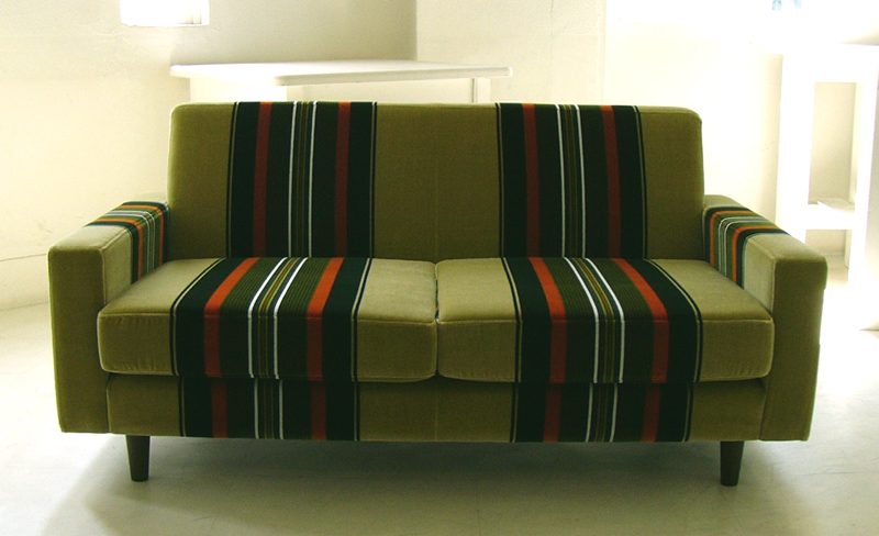 Scandinavian retro furniture White Retro Nice Colorful Stylish Stripes And Placed Into Twoseat Single Sofas Sofa Moquette Material Twoseat Scandinavian Retro Style Row Couch Rakuten Hellofurniture Retro Nice Colorful Stylish Stripes And Placed Into