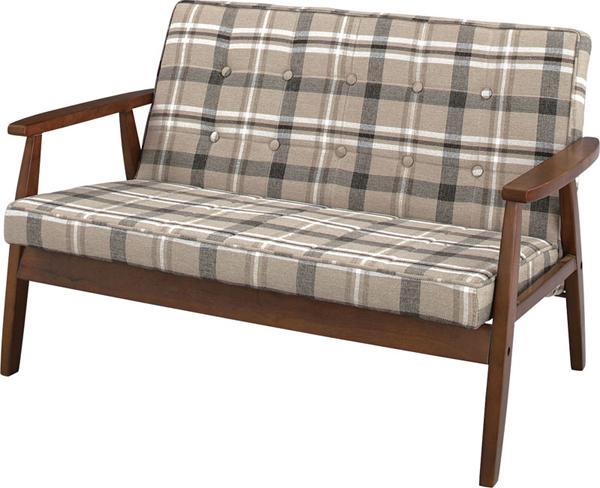 ソファ 2Pソファ カントリーチックな2人掛けソファ 椅子 肘付き 天然木 木製 【2Pソファ】リビング・ダイニングで大活躍のコンパクト&マルチソファ 北欧 おしゃれ★トムテ ソファ TAC-212CB【02P03Dec16】