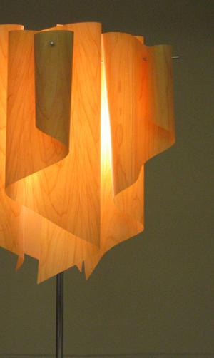 透明感のあるオーロラをイメージしたデザイン【DI CLASSE(ディ クラッセ)】 フロアランプ auro-wood floor lamp グッドデザイン賞 シェードのドレープ 本物のヒノキ★アウロ ウッド フロアランプ【収納インテリア】【02P03Dec16】