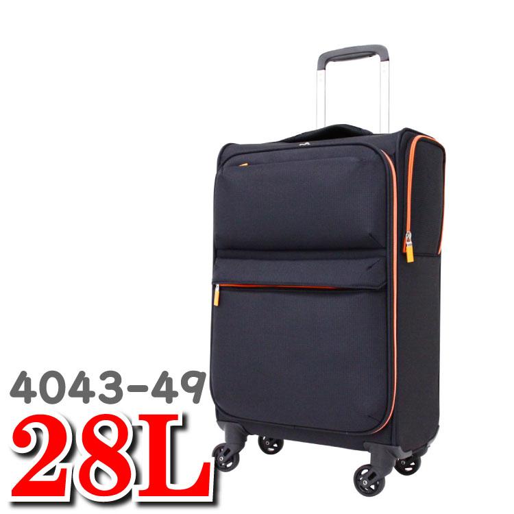 ソフトスーツケース ソフトキャリーバッグ 機内持ち込み レジェンドウォーカー Legend Walker スーツケース 超軽量 ソフトキャリー T&S ティーアンドエス スーツ ケース  ソフト レジェンド ウォーカー 4043-49 S サイズ 28L 49cm