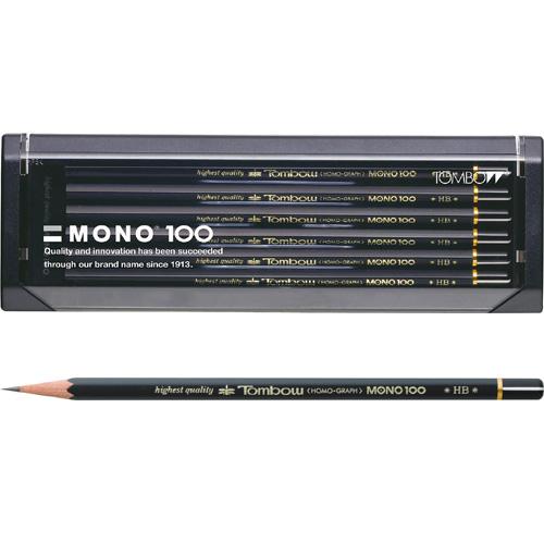 """""""滑らかで折れにくく鮮明な筆記を実現します"""" 【メール便対応可能/2個まで】トンボ鉛筆 鉛筆モノ100 6角軸(1ダース)MONO-100"""