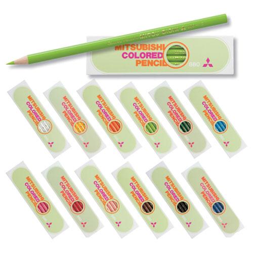 """""""三菱鉛筆の最も普及している定番色鉛筆"""" 【メール便対応/6ダースまで】三菱鉛筆 色鉛筆 880単色(1ダース) K880"""