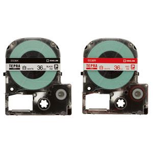 """""""はがきや封筒の宛名ラベルに"""" メール便不可 キングジム テプラPROテープカートリッジ 買収 SS36 白ラベル 36mm幅 年間定番"""