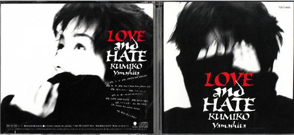 メーカー: 発売日:1994年10月25日 LOVE and TOCT-8565 CD HATE 中古 驚きの値段で 祝開店大放出セール開催中