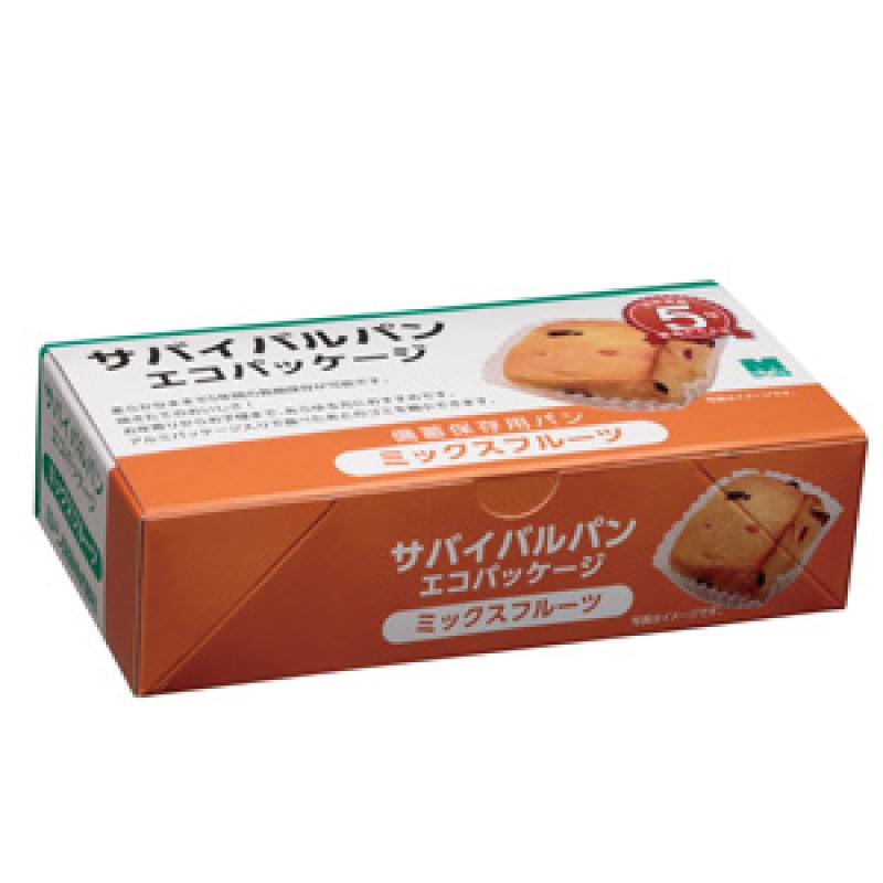 非常食 新生活 備蓄 ミドリサバイバルパンエコパッケージ 中古 1箱 24個入り ミックスフルーツ
