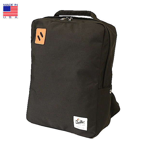 Drifter ドリフター Square Backpack スクエア バックパック ブラック アメリカ製 ビジネス 2019年 春新入荷商品