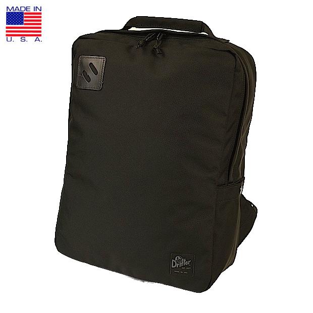 Drifter ドリフター Square Backpack バリスティック スクエア バックパック リュックサック デイパック ブラック アメリカ製