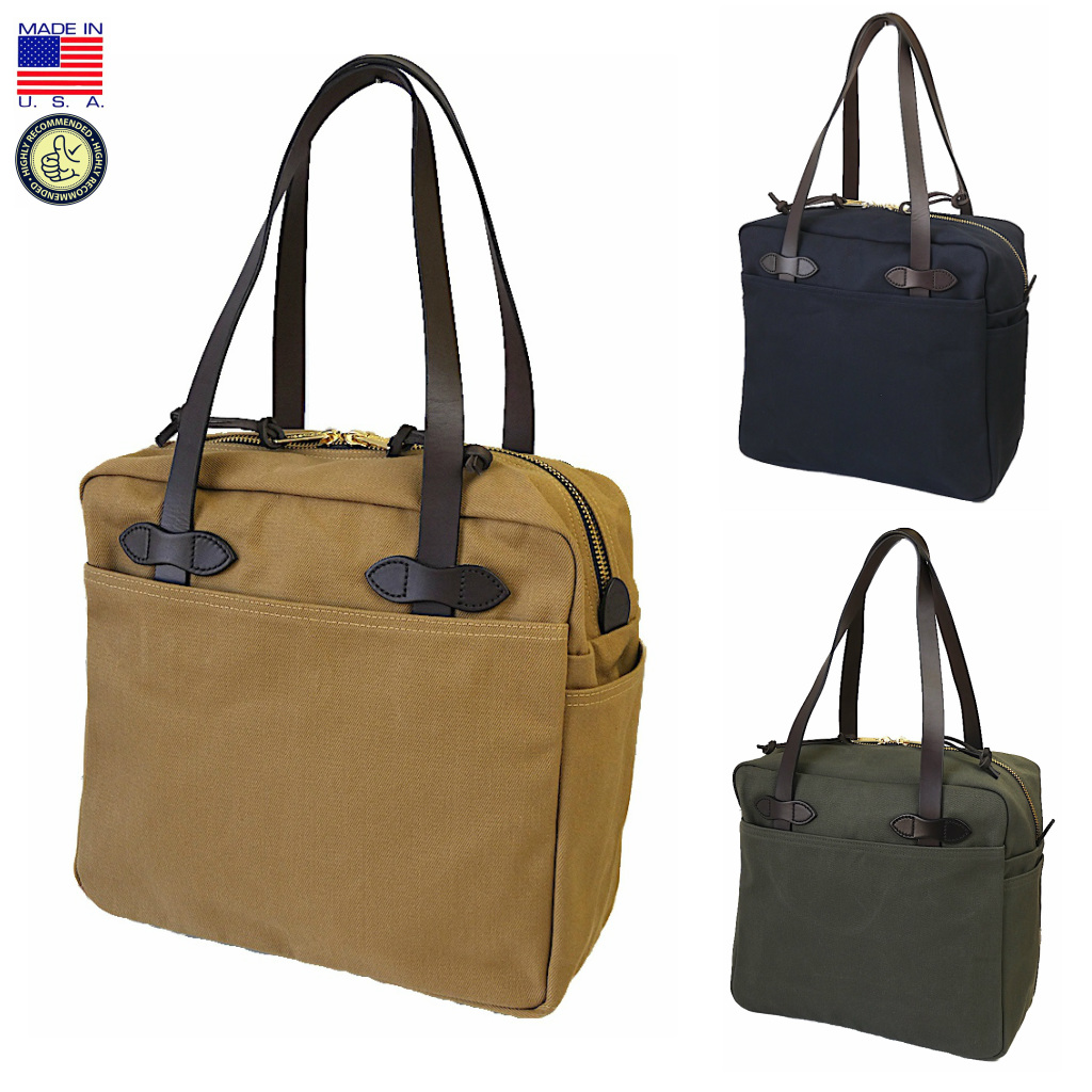 FILSON フィルソン 11070261 TOTE WITH ZIPPER ジップトップ トートバッグ アメリカ製