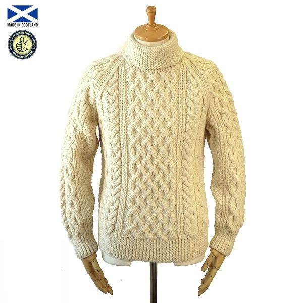 STRATHTAY ストラステイ 1A ROLL NECK SWEATER ロールネック セーター NATURAL スコットランド製