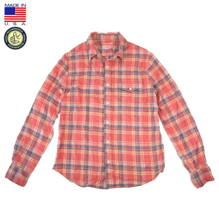Save Khaki セーブ カーキ SK711-TK L/S YD Flannel Work Shirt 長袖 先染め フランネル ワークシャツ Red Plaid アメリカ製