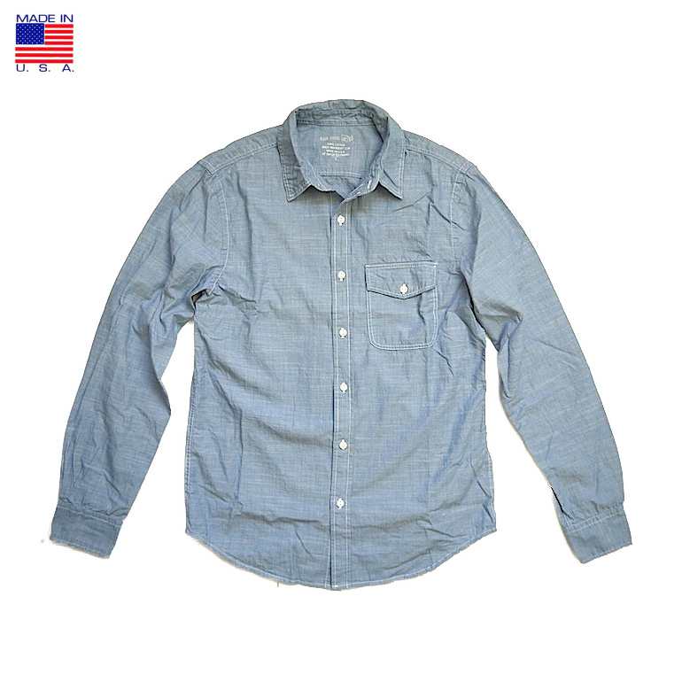 Save Khaki セーブ カーキ SK711-C L/S Chambray Work Shirt 長袖シャンブレー ワークシャツ アメリカ製