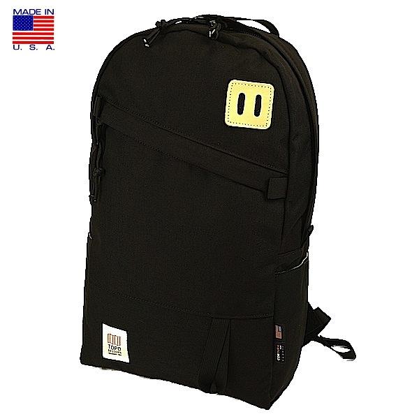 TOPO DESIGNS トポ デザイン Day Pack Black デイパック ブラック バックパック リュックサック アメリカ製