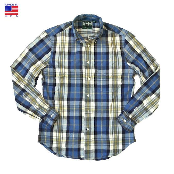 GITMAN VINTAGE ギッドマン ヴィンテージ PLAID FLANNEL L/S BD SHIRT プレイド フランネル メンズ ボタンダウン チェックシャツ 長袖カジュアルシャツ アメリカ製 Made in USA