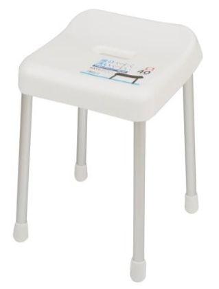 立ち座りしやすく、シャワー浴に最適。 スタイルピュア バススツール40cm(ホワイト) H-4338 02P03Sep16