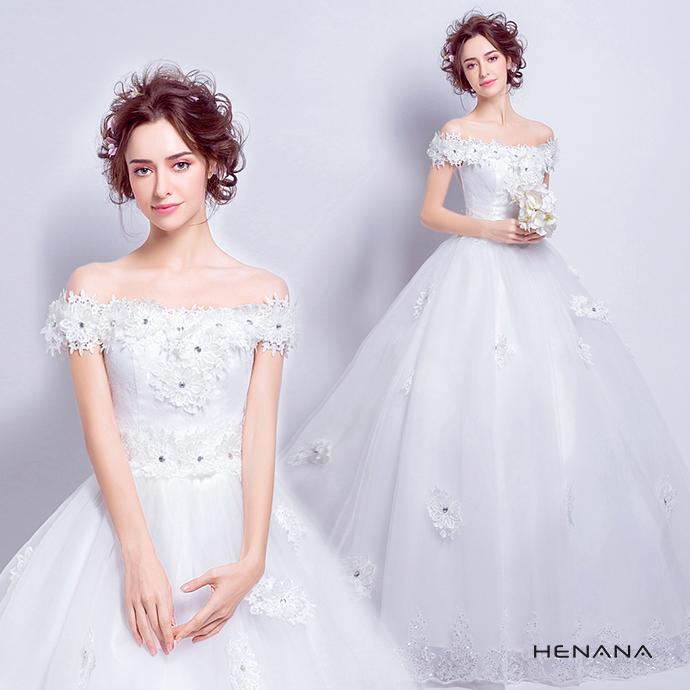 オフショルダー ウエディングドレス 二次会ドレスウエディング エンパイアライン 二次会 花嫁 ドレス 花嫁ドレス ロングドレス 発表会 パーティー 編み上げタイプ 姫系ドレス 豪華なドレス 162447