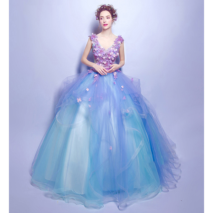 【送料無料】カラードレス ウエディングドレス ロングドレス パーティードレス 礼服 姫系ドレス お花嫁ドレス 豪華 イベント 結婚式 162176