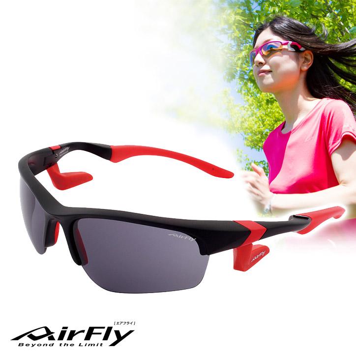 鼻パッドの無い サングラス エアフライ AirFly AF-101 C-3 ユニセックス[ジョギング ランニング ゴルフ スポーツサングラス UV・紫外線対策]