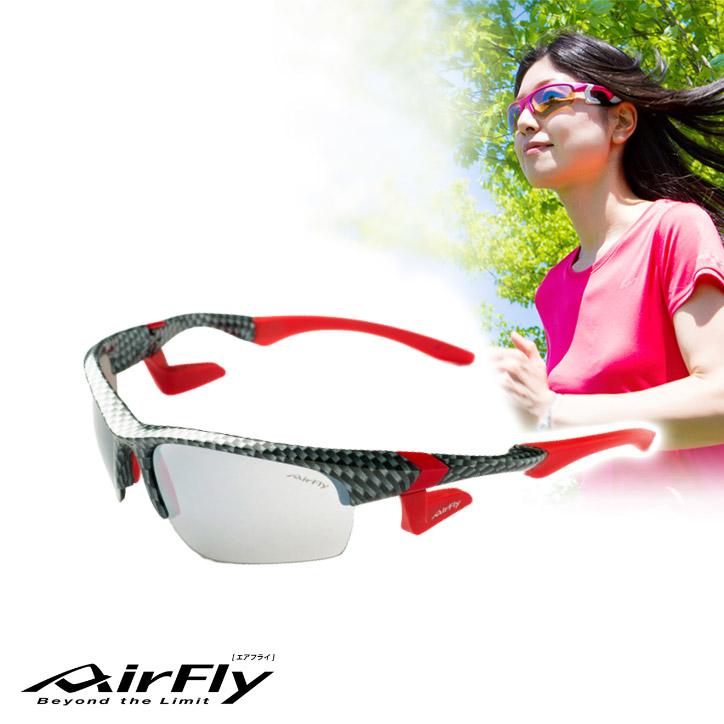 鼻パッドの無い サングラス エアフライ AirFly AF-101 C-6 ユニセックス[ジョギング ランニング ゴルフ スポーツサングラス UV・紫外線対策]